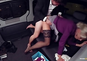Screwed in traffic - christmas railway carriage coition with hot swedish blondie lynna nilsson