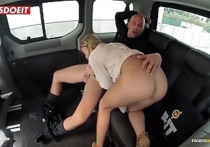 Unpretentious special porn movie with a hansom taxi-cub cab - angela christin