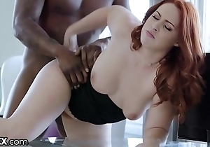 Darkx curvy redhead screwed by board of directors bbc not susceptible dresser