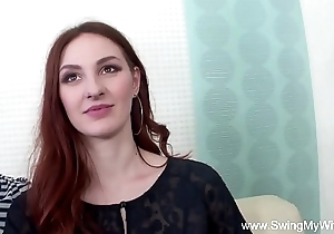 Redhead swinger cuckolds husband