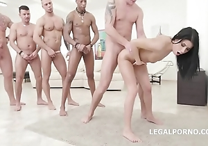Nicole black - 10on1 dap gangbang increased by balls impenetrable depths anal