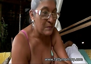 Full-grown granny eva seventy four year superannuated alongside domineer mating