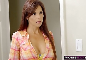 Momsteachsex - lustful milf makes stepson cum inside!