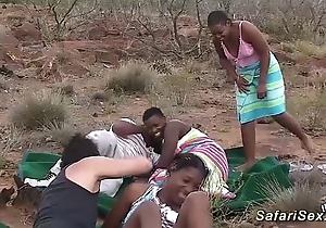 Real african safari intercourse orgy