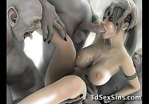 Creatures bonk 3d scifi babes!