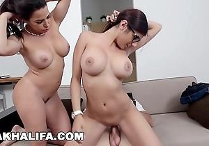 Mia khalifa - featuring broad in the beam tits milf julianna vega... involving cum shot!