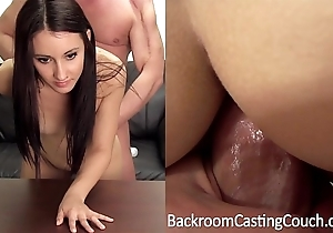 Intercept creampie, foremost anal casting