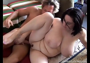 Comely bosomy bbw brunette is a very sexy be hung up on
