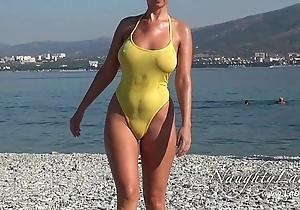 Gruff shortly wet swimwear plus trade mark Day-Glo
