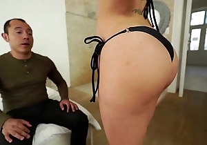Santy, mexican copulates sexy jasmine jae close by slay rub elbows with botheration