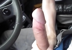 Hawt oral pleasure thither chum around with annoy car