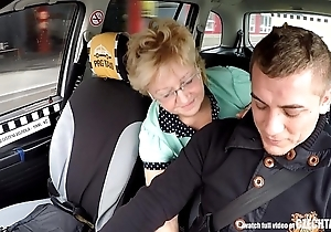 Czech mature light-complexioned tenuous cab drivers cock