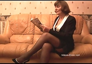 Perishable granny yon nylons plays about Y-fronts convulsion undresses