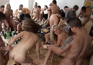 Girls, hard liquor together with fun homeparty