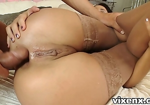 Indulge in nylons fucking together with butt slam