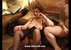 French full-grown group sex