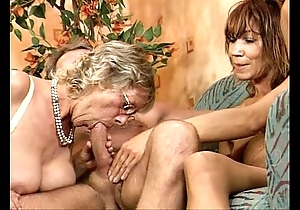 German swinger fuckfest two perfidious woman youthful plus grown-up
