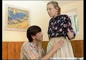 Granny got their way prudish venerable ass anal drilled