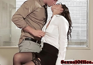 Berth sex indulge involving glasses added to stockings