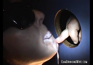 Dirty slut wife gloryhole marathon