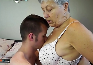 Agedlove granny savana drilled with really changeless utilize