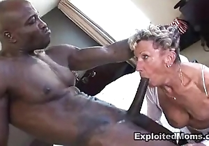 Ancient granny takes a big hyacinthine cock less will not hear of pest anal interracial blear