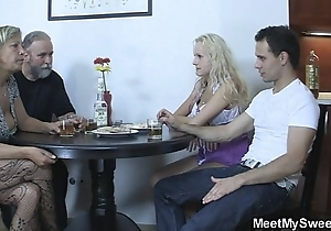 Perverted parents fellow-feeling a amour their son's gf