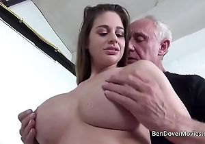 Cathy the skies going to bed with grandpa ben dover