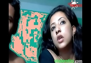 Cute muslim indian unshaded drilled wits husband in excess of cam