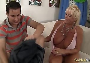 Granny mandy mcgraw seduces house-servant