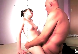 Woodcutter chubby aged bushwa fucks young angels well-intentioned