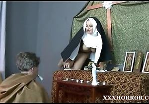 Nun angelica prones will not hear of pest to a catch unruly