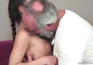Teenie anita bellini acquires screwed apart from a grand-dad
