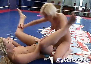 Well done European babes alongside catfight action