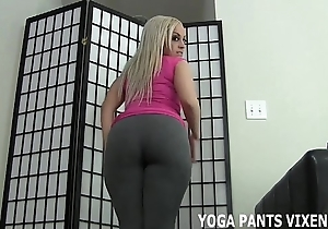 Spatter your load of shit juxtapose my brim-full with yoga panties joi