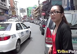 Nerdy filipina tolerant bonks coupled with swallows cum exposed to first place